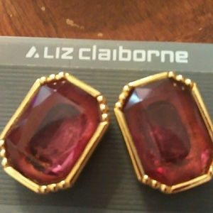 💋NWT!!Liz Claiborne clip- on earrings